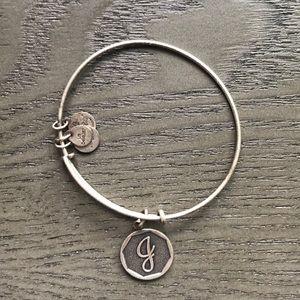 """Alex and Ani """"J"""" bracelet"""